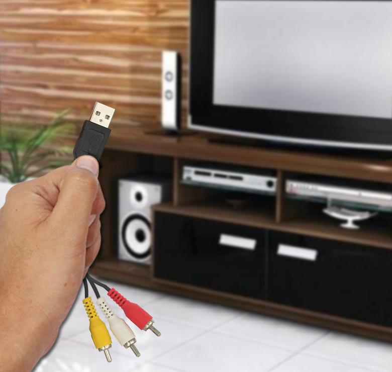 Foto de CABLE 3 A 1 DE 3 PLUG RCA A CONECTOR USB / 1.8M