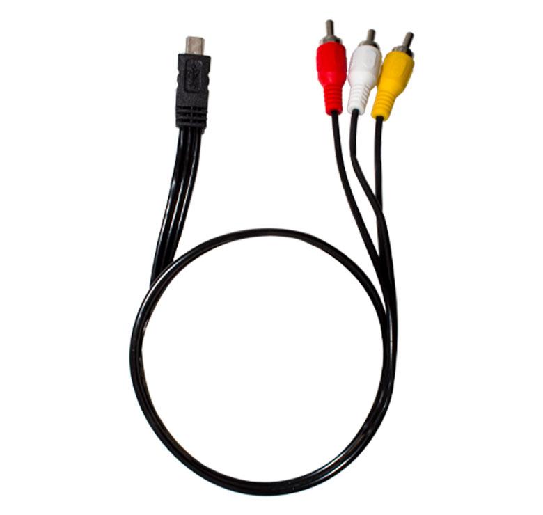 Foto de CABLE 3 A 1 DE 3 PLUG RCA A CONECTOR MINI USB V3 / 1.8M