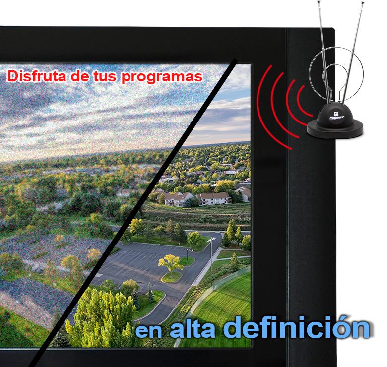 Foto de ANTENA HDTV PARA INTERIORES CONEJO DOBLE ARO
