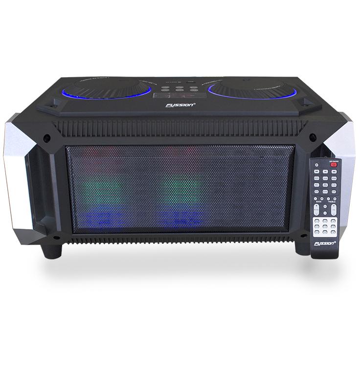 "Imagen de MINI COMPONENTE DE 5.5"" / 2000W P.M.P.O. / BT / CONTROL / FM / ENTRADA USB Y SD / LUZ LED"