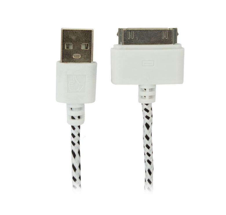 Imagen de CABLE DE DATOS Y CARGADOR / ESPECIAL PARA EQUIPOS APPLE ENTRADA USB /  FACILIDAD DE CONEXION