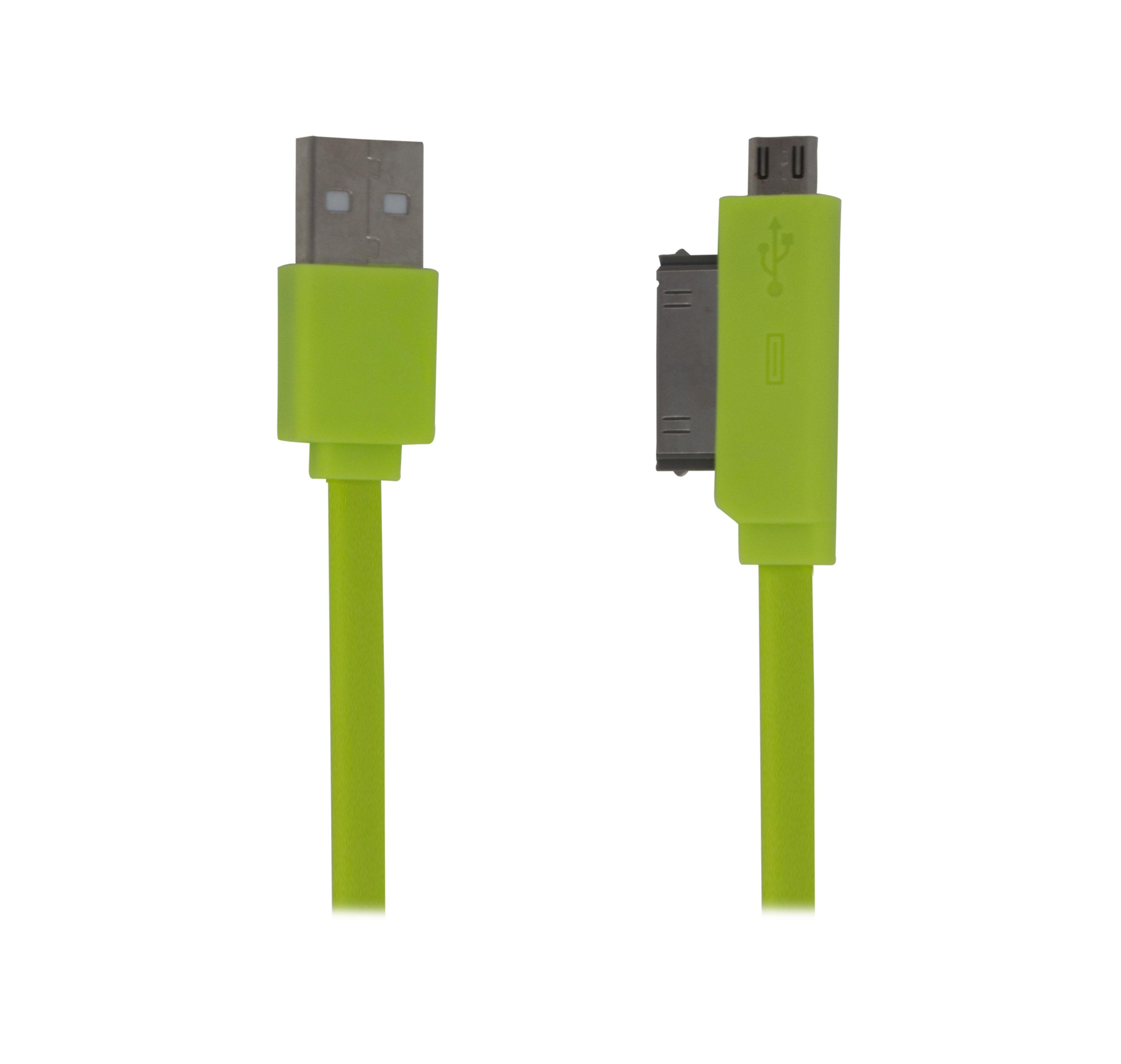 Imagen de CABLE CONVERTIDOR DE TRANSFERENCIA DE DATOS Y CARGA CON CONECTOR USB A MICRO USB, IP4 / 80CM
