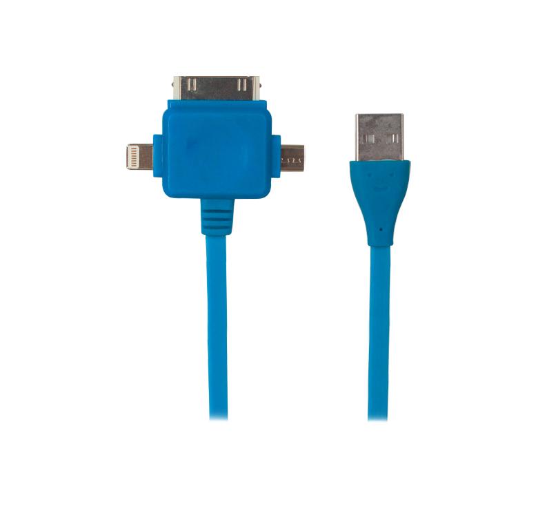 Imagen de CABLE CONVERTIDOR DE TRANSFERENCIA DE DATOS Y CARGA CON CONECTOR USB A MICRO USB, IP4, IP5 / 80CM