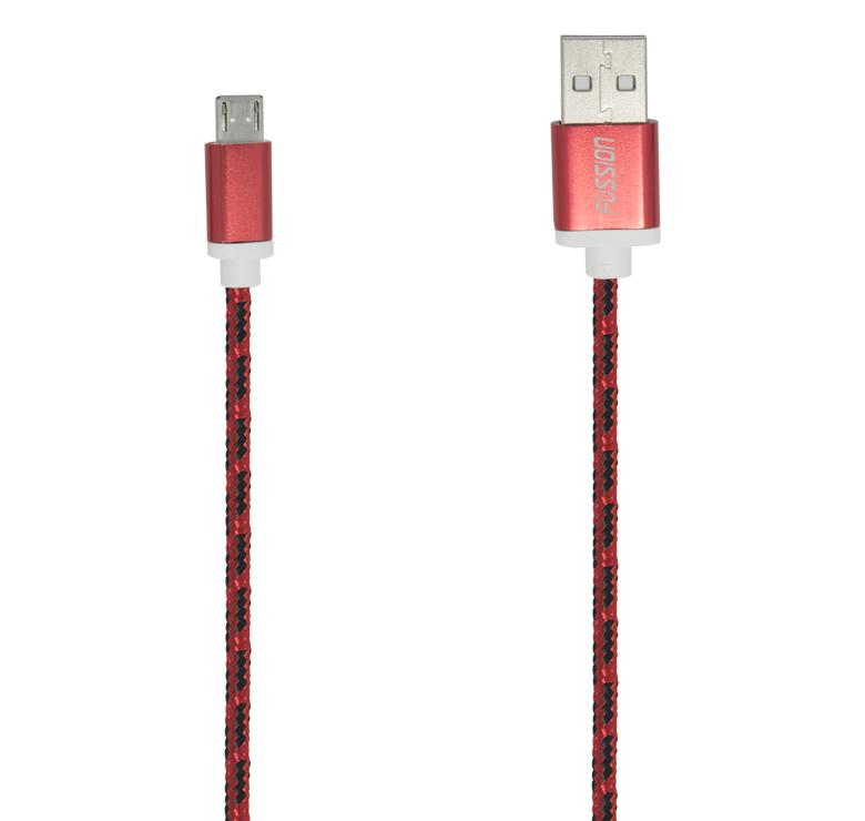 Imagen de CABLE DATOS Y CARGA CON CONECTOR USB A MICRO USB / 1.5M / RECUBRIMIENTO TEXTIL