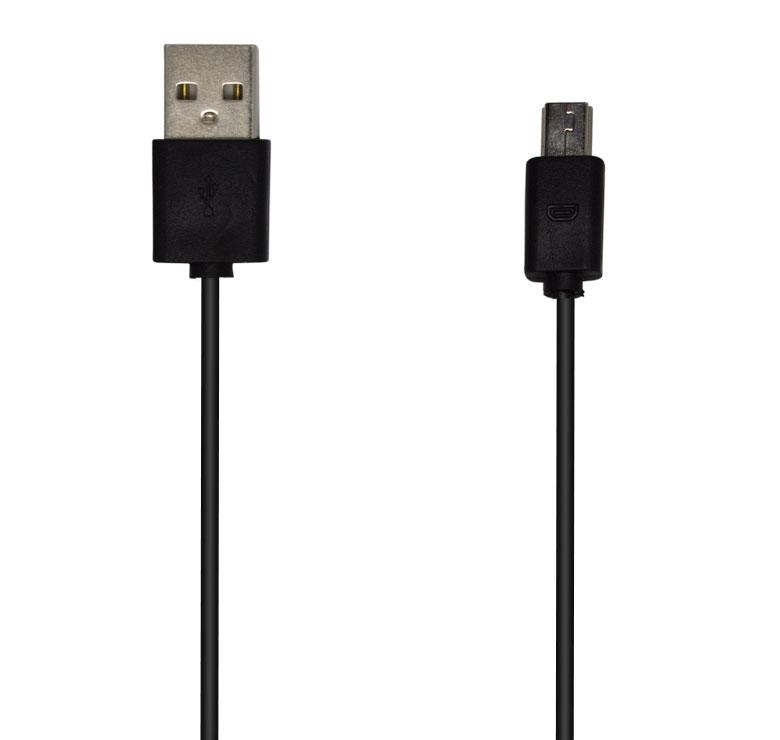 Imagen de CABLE DE TRANSFERENCIA DE DATOS Y CARGA CON CONECTOR USB A MINI USB / 75CM