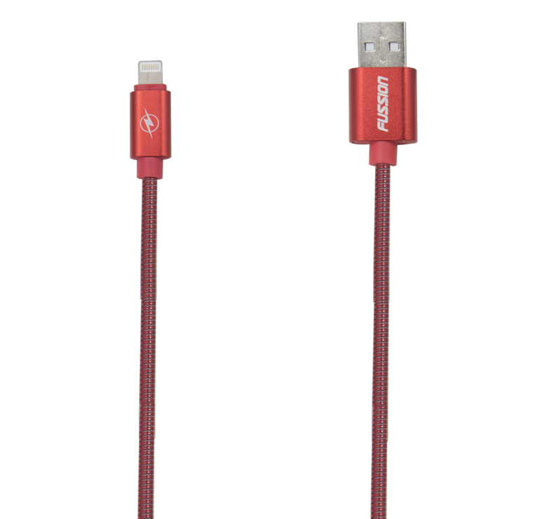 Imagen de CABLE DE TRANSFERENCIA DE DATOS Y CARGA CON CONECTOR USB A IP5 / 1M / RESORTE METALICO