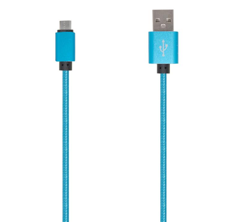 Imagen de CABLE DE TRANSFERENCIA DE DATOS Y CARGA CON CONECTOR USB A MICRO USB / 2M / RECUBIERTAS