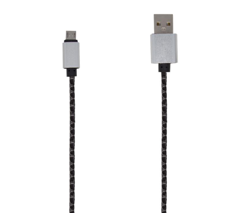 Imagen de CABLE DE TRANSFERENCIA DE DATOS Y CARGA CON CONECTOR USB A MICRO USB / 1M