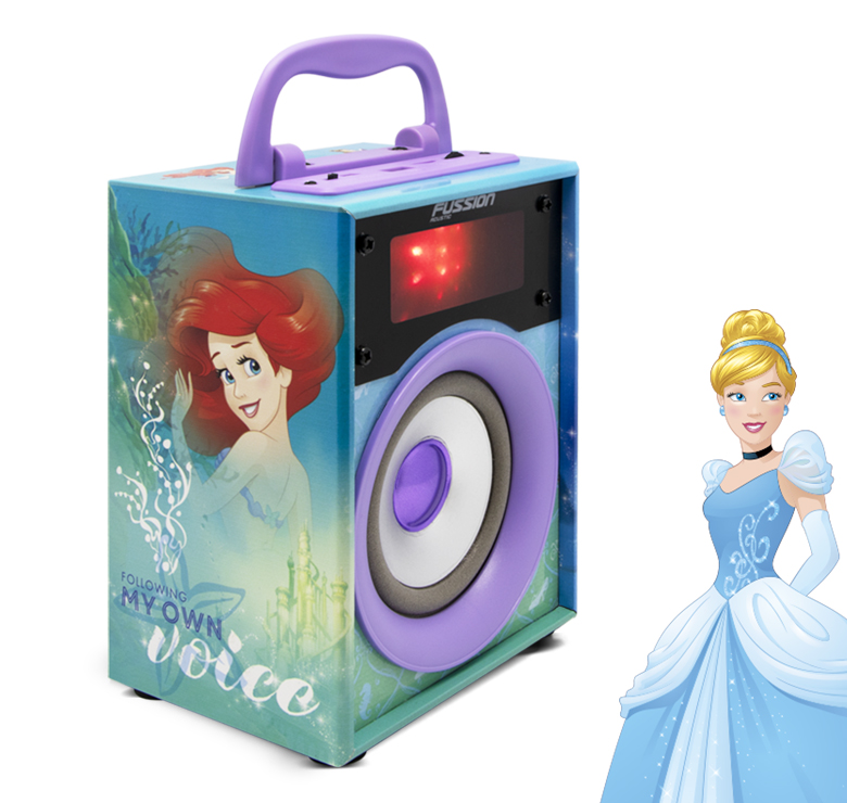 """Imagen de BOCINA PORTATIL 4"""" 300W PMPO BLUETOOTH FM USB MICRO SD AUX LUZ LED DISNEY"""