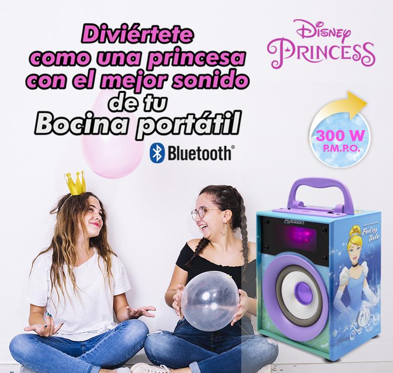 """Foto de BOCINA PORTATIL 4"""" 300W PMPO BLUETOOTH FM USB MICRO SD AUX LUZ LED DISNEY"""