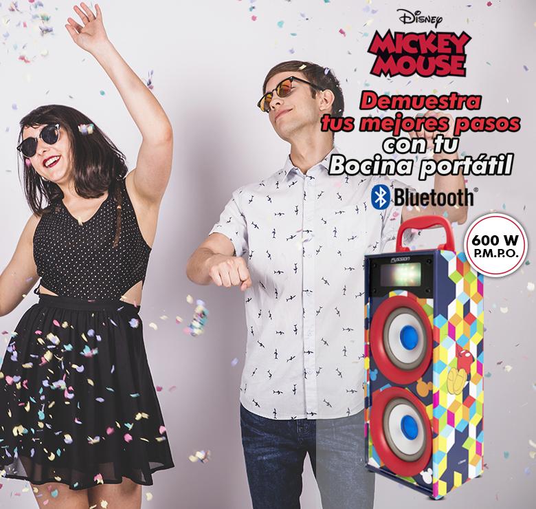 """Foto de BOCINA PORTATIL 2x4"""" BLUETOOTH USB SD AUX FM 600W PMPO LUZ LED"""