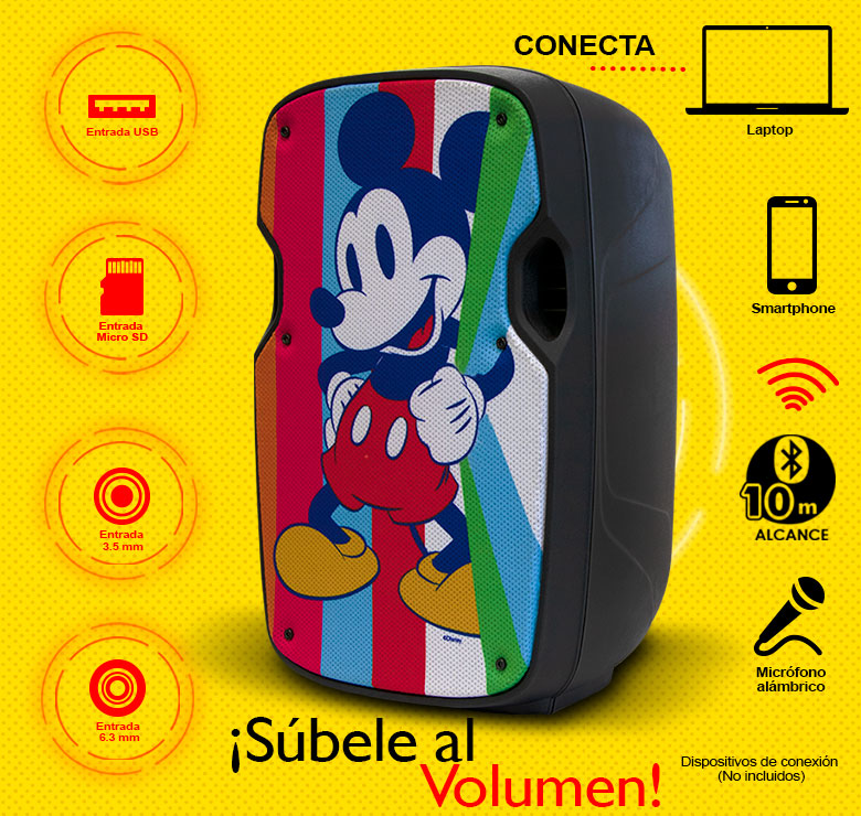 "Foto de BAFLE AMPLIFICADO 8"" 500W PMPO RECARGABLE,BLUETOOTH,USB,MICRO SD,MP3,AUX,CON MICROFONO"