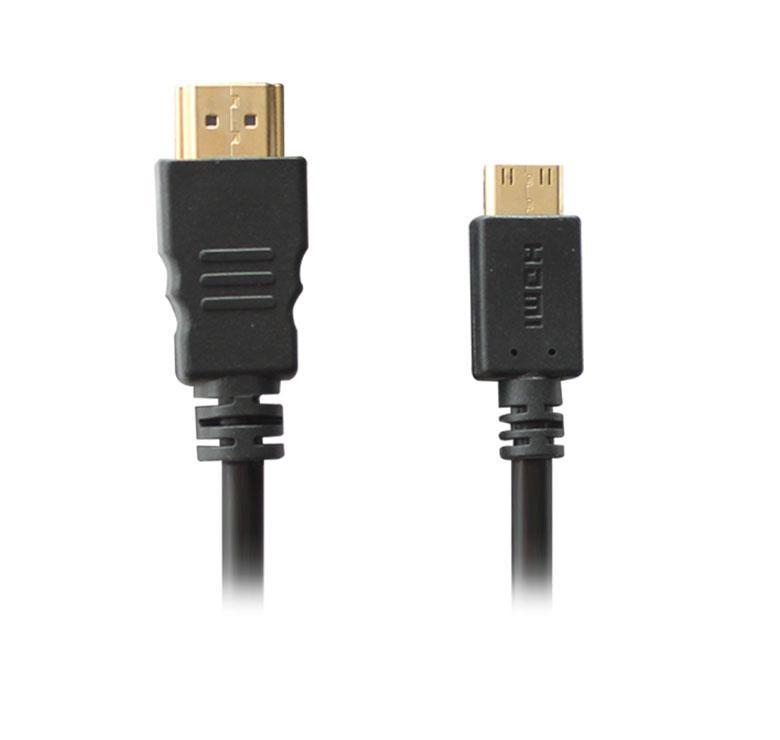 Imagen de CABLE CON CONECTOR HDMI MACHO A MINI HDMI / 3M / BAÑO DE ORO EN PUNTAS