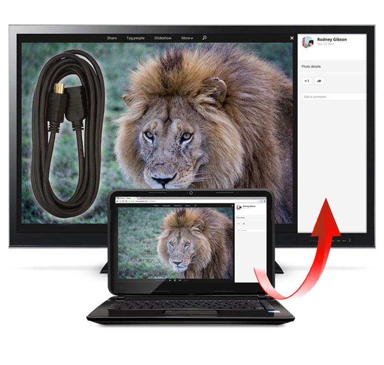 Foto de CABLE CON CONECTOR HDMI MACHO A HDMI HEMBRA / 3M / BAÑO DE ORO EN PUNTAS