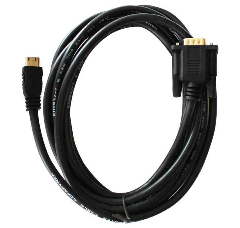 Foto de CABLE CON CONECTOR HDMI MACHO A VGA / 1.8M / BAÑO DE ORO EN PUNTAS