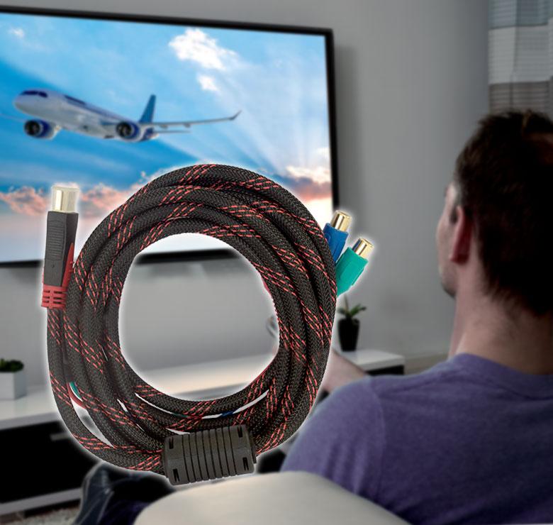 Foto de CABLE CON CONECTOR HDMI A 3 JACK RCA / 3M