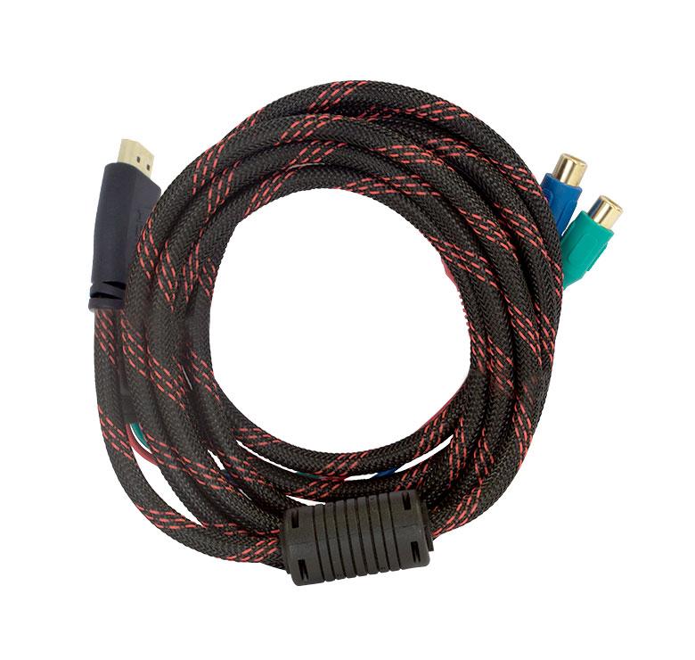 Foto de CABLE CON CONECTOR HDMI A 3 JACK RCA / 1.5M