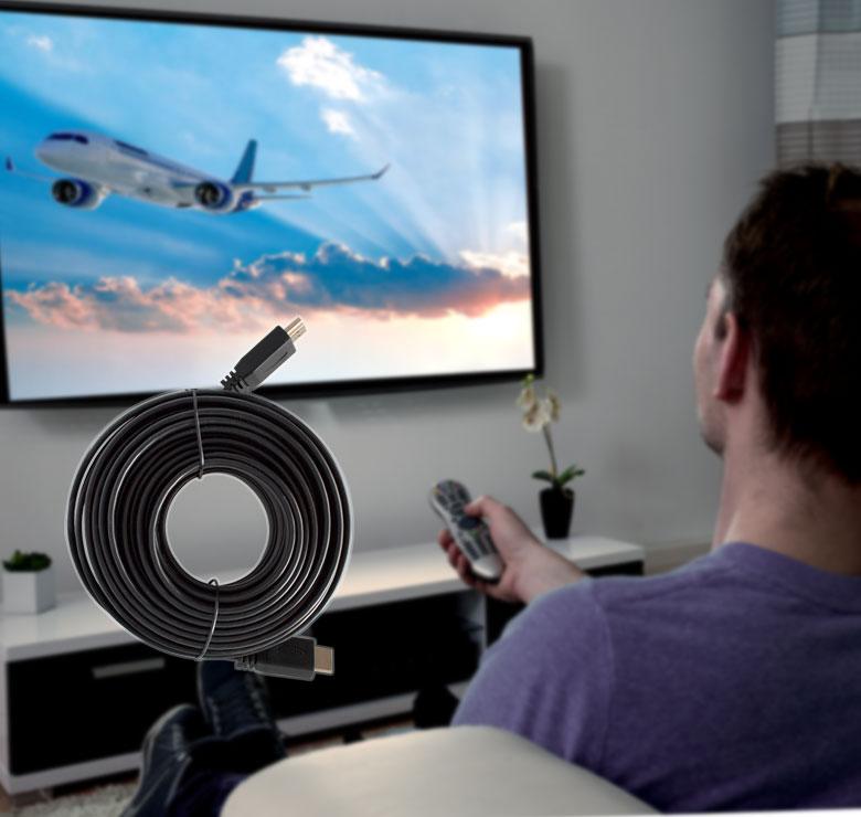 Foto de CABLE PLANO CON CONECTOR HDMI A HDMI / 7M