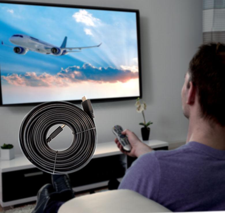 Foto de CABLE PLANO CON CONECTOR HDMI A HDMI / 9M