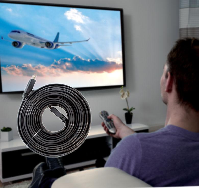 Foto de CABLE PLANO CON CONECTOR HDMI A HDMI / 10M