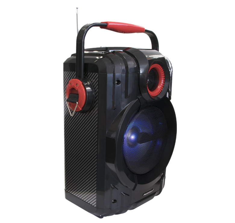 "Foto de BOCINA PORTATIL RECARGABLE BLUETOOTH DE 6.5""+2""/KARAOKE/2000 WATTS PMPO/MP3/USB/SD/FM/ANT/LUZ LED"