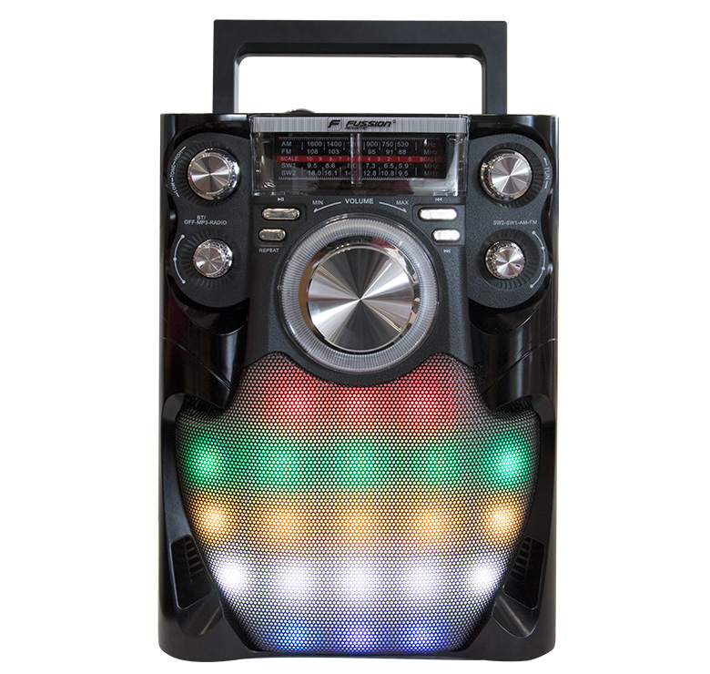Imagen de BOCINA PORTATIL RECARGABLE BLUETOOTH/2000 WATTS PMPO/MP3/USB/SD/FM/ANT/LUZ DE LED