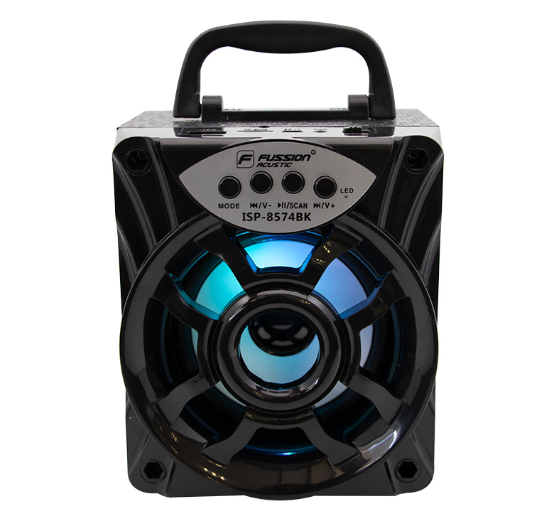 Imagen de BOCINA PORTATIL RECARGABLE BLUETOOTH/1000 WATTS PMPO/MP3/USB/FM/ANT/LUZ LED