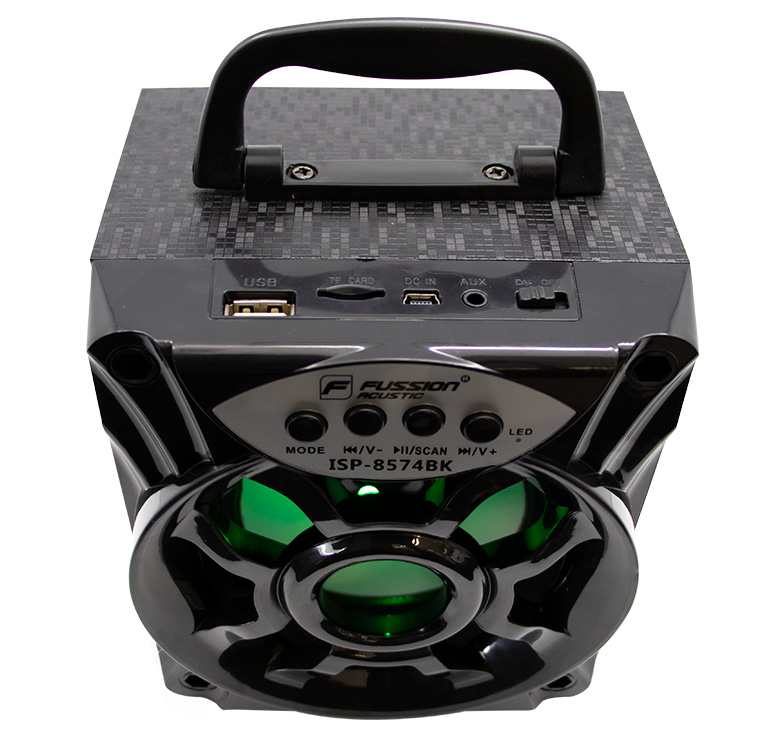 Foto de BOCINA PORTATIL RECARGABLE BLUETOOTH/1000 WATTS PMPO/MP3/USB/FM/ANT/LUZ LED