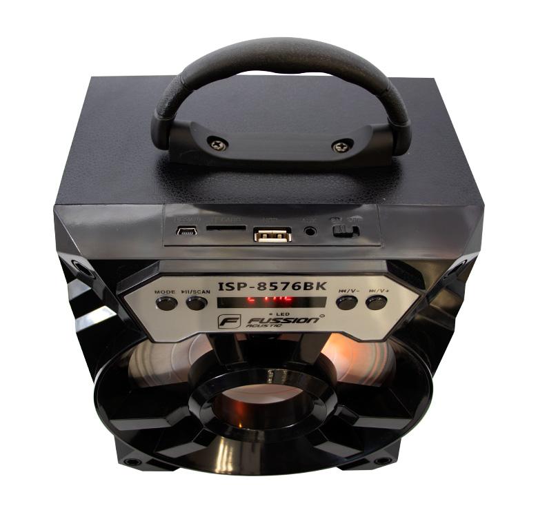 Foto de BOCINA PORTATIL RECARGABLE BLUETOOTH/2000 WATTS PMPO/MP3/USB/FM/ANT/LUZ LED