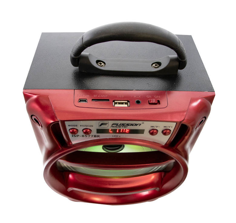 Foto de BOCINA PORTATIL RECARGABLE BLUETOOTH/2000 WATTS PMPO/MP3/USB/FM/ANT/LUZ LED