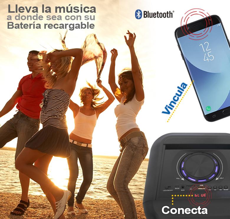 Foto de BOCINA PORTATIL BLUETOOTH RECARGABLE 20000 WATTS PMPO/MP3/USB/TARJETA TF/FM/ANT
