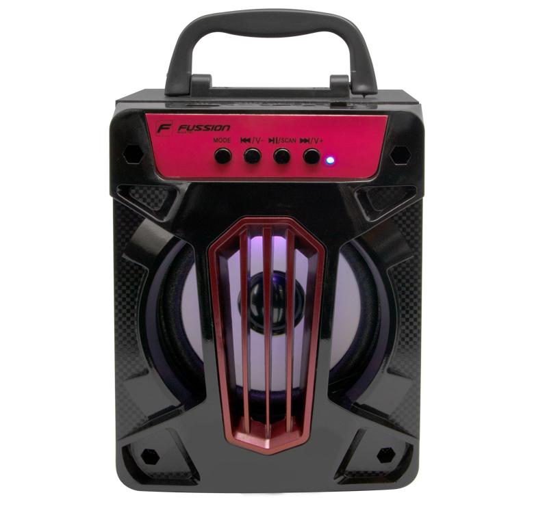 Imagen de BOCINA PORTATIL RECARGABLE BLUETOOTH/1000WATTS PMPO/MP3/USB/MICRO SD/FM/LUZ LED