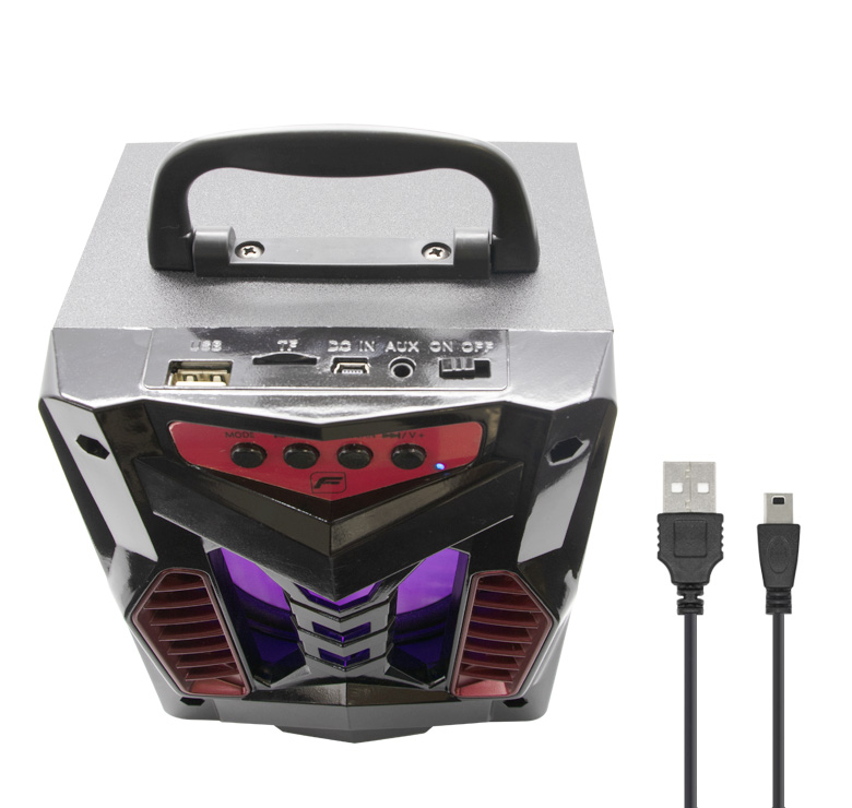 "Foto de BOCINA PORTATIL 4"" RECARGABLE/BLUETOOTH/1000WATTS PMPO/MP3/USB/MICRO SD/FM/LUZ LED"