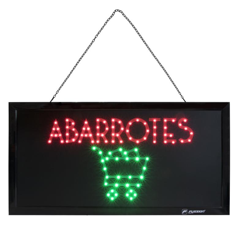"Imagen de ANUNCIO LUMINOSO LED ""ABARROTES"" 10W 95 LED"