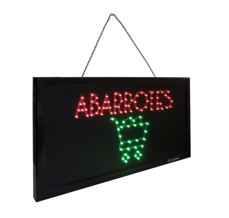 "Foto de ANUNCIO LUMINOSO LED ""ABARROTES"" 10W 95 LED"