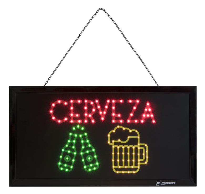 """Imagen de LETRERO LED """"CERVEZA"""" 10W 132 LEDS/ROJO/VERDE/AMARILLO"""