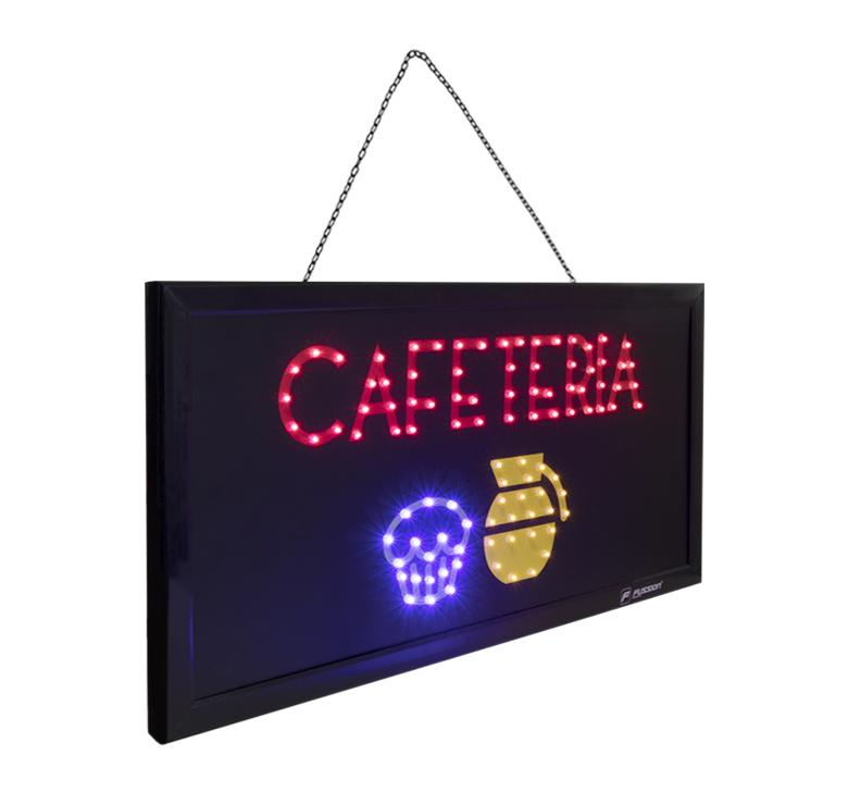 """Foto de ANUNCIO LUMINOSO LED """"CAFETERIA"""" 10W 99 LEDS"""