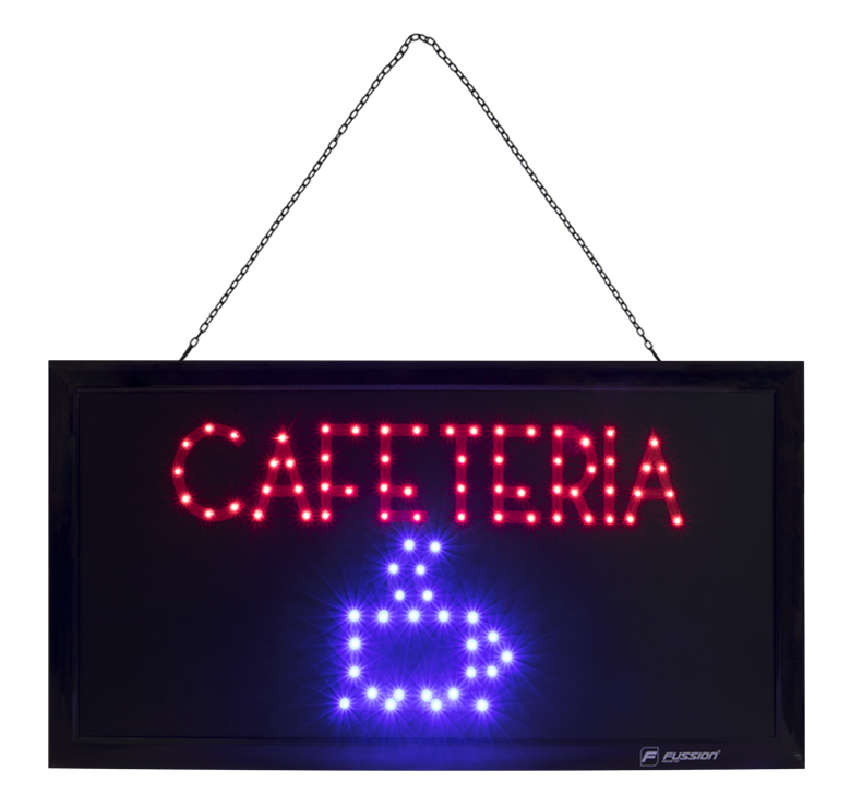 """Imagen de ANUNCIO LUMINOSO LED """"CAFETERIA"""" 10W 84 LEDS"""