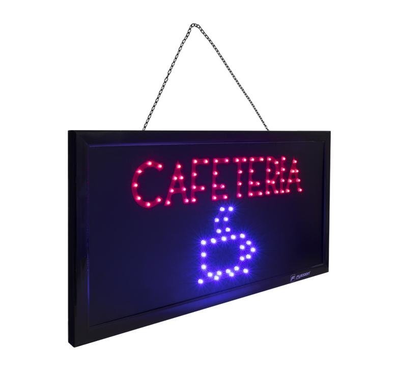 """Foto de ANUNCIO LUMINOSO LED """"CAFETERIA"""" 10W 84 LEDS"""