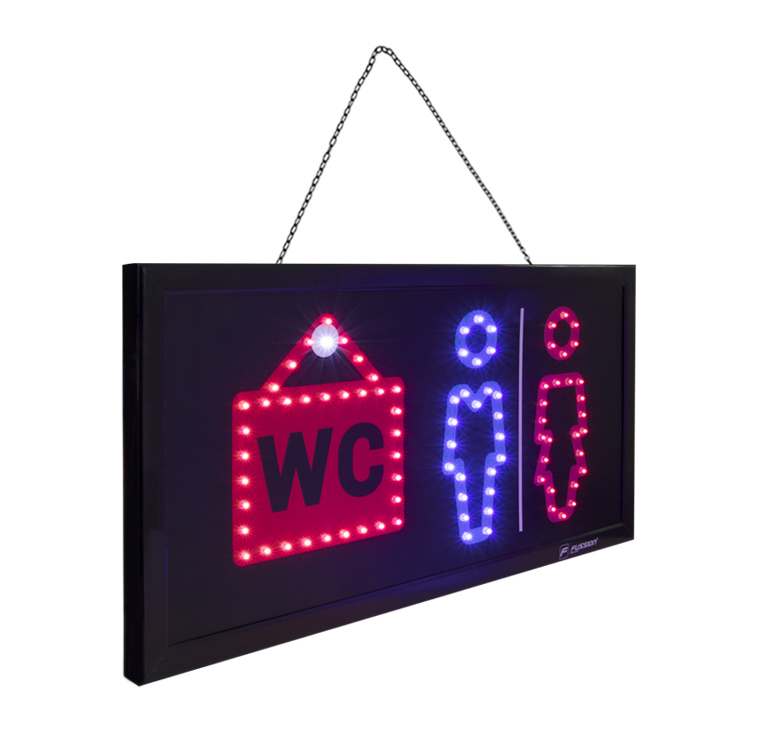 "Foto de ANUNCIO LUMINOSO LED ""WC"" 10W 88 LEDS"