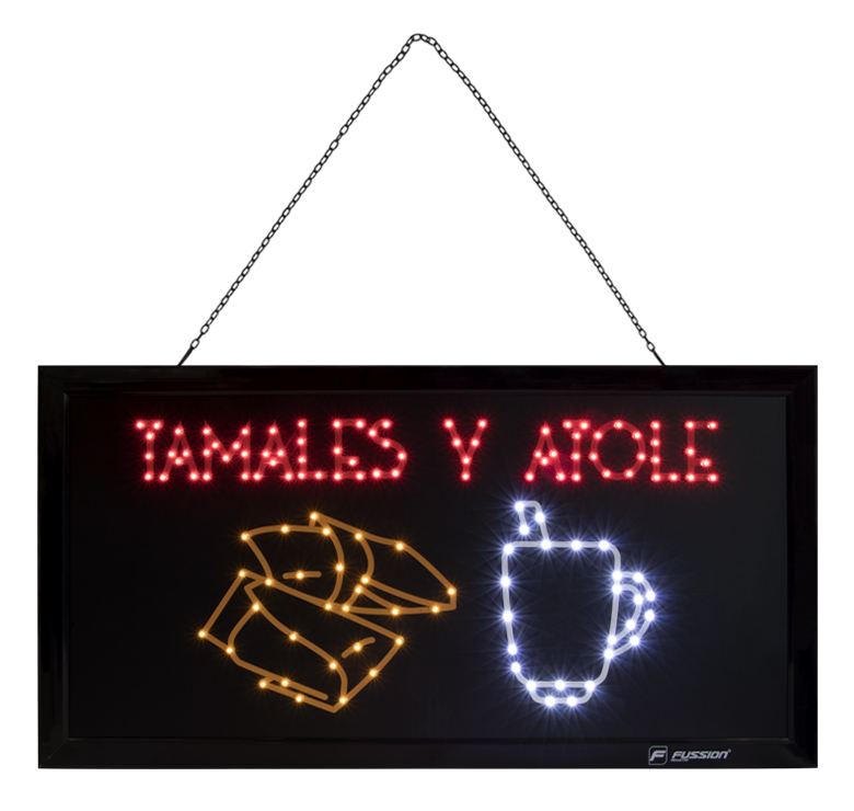 """Imagen de ANUNCIO LUMINOSO LED """"TAMALES Y ATOLE"""" 10W 133 LEDS"""