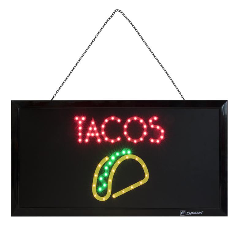 """Imagen de ANUNCIO LUMINOSO LED """"TACOS"""" 10W 68 LEDS"""