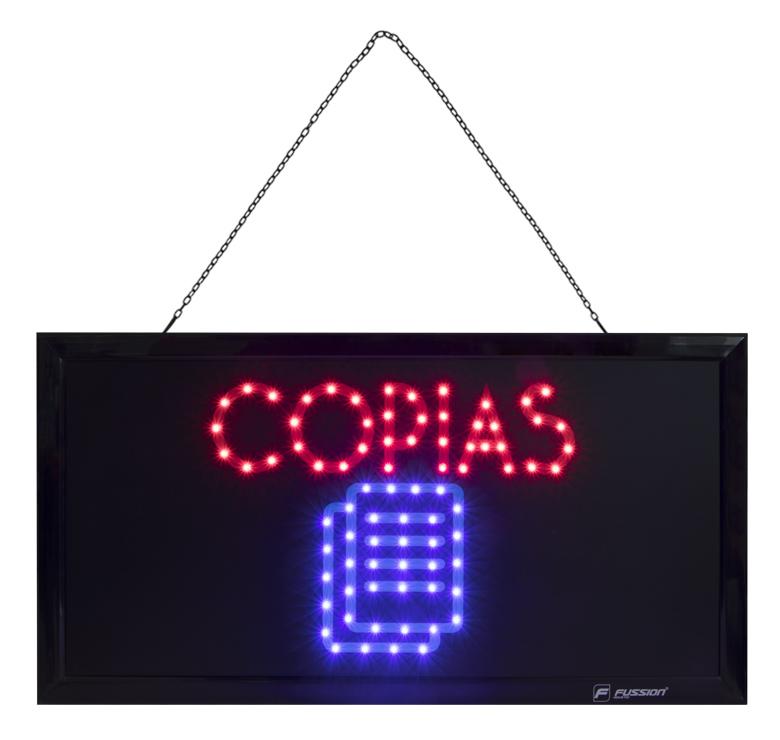 """Imagen de ANUNCIO LUMINOSO LED """"COPIAS"""" 10W 80 LEDS"""