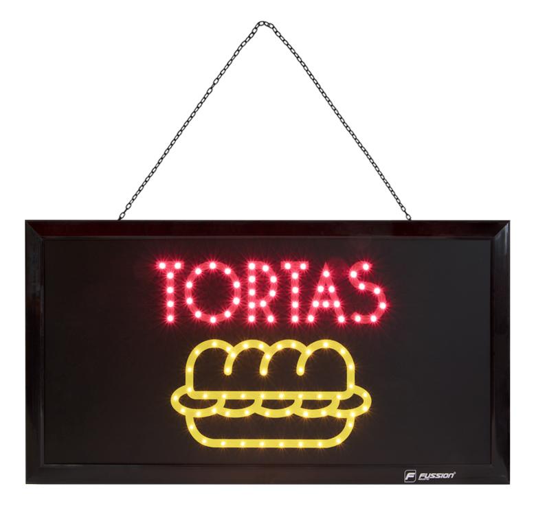 """Imagen de ANUNCIO LUMINOSO LED """"TORTAS"""" 10W 98 LEDS"""