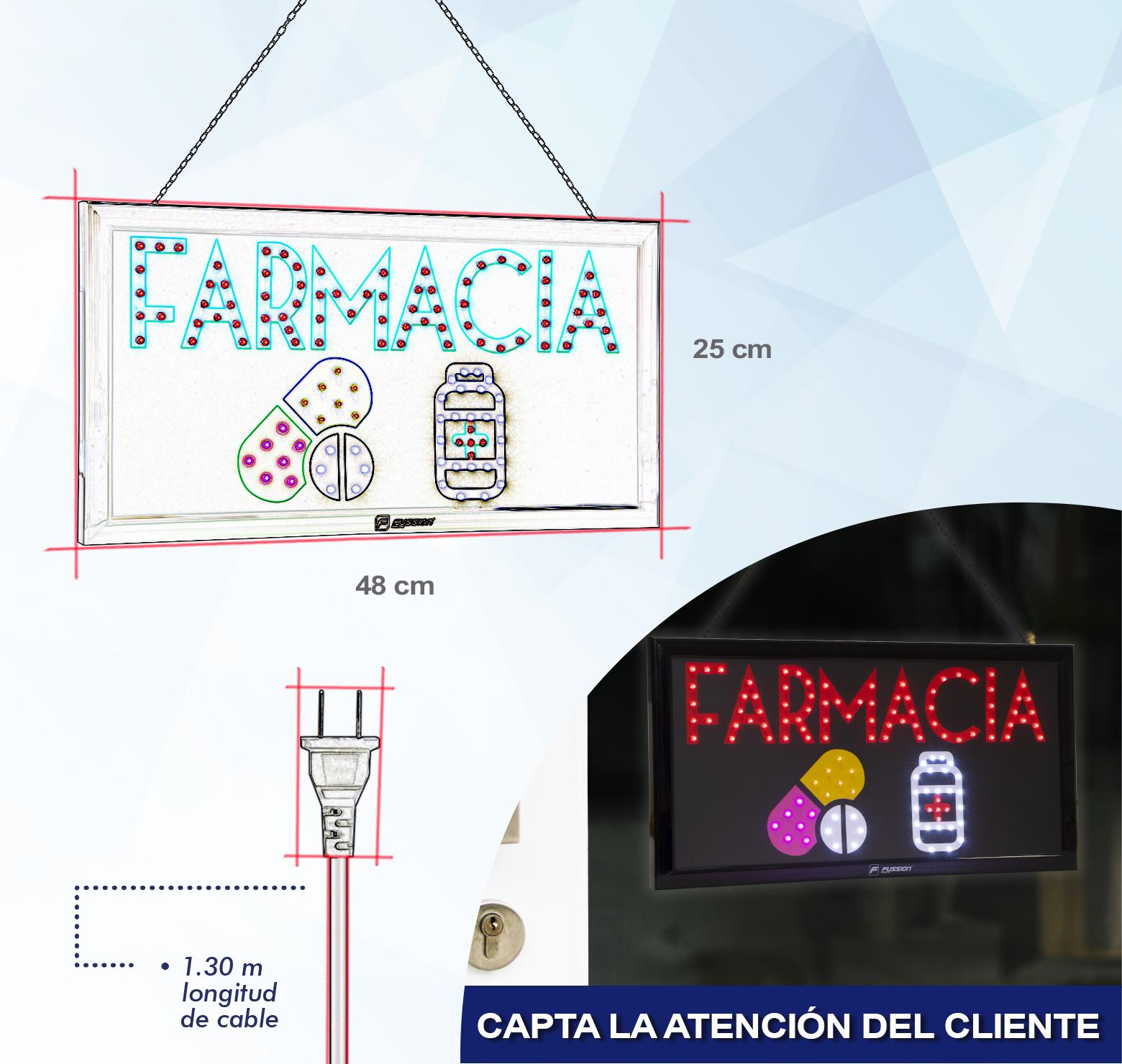 "Foto de LETRERO DE LED ""FARMACIA"" 10W 116 LEDS"