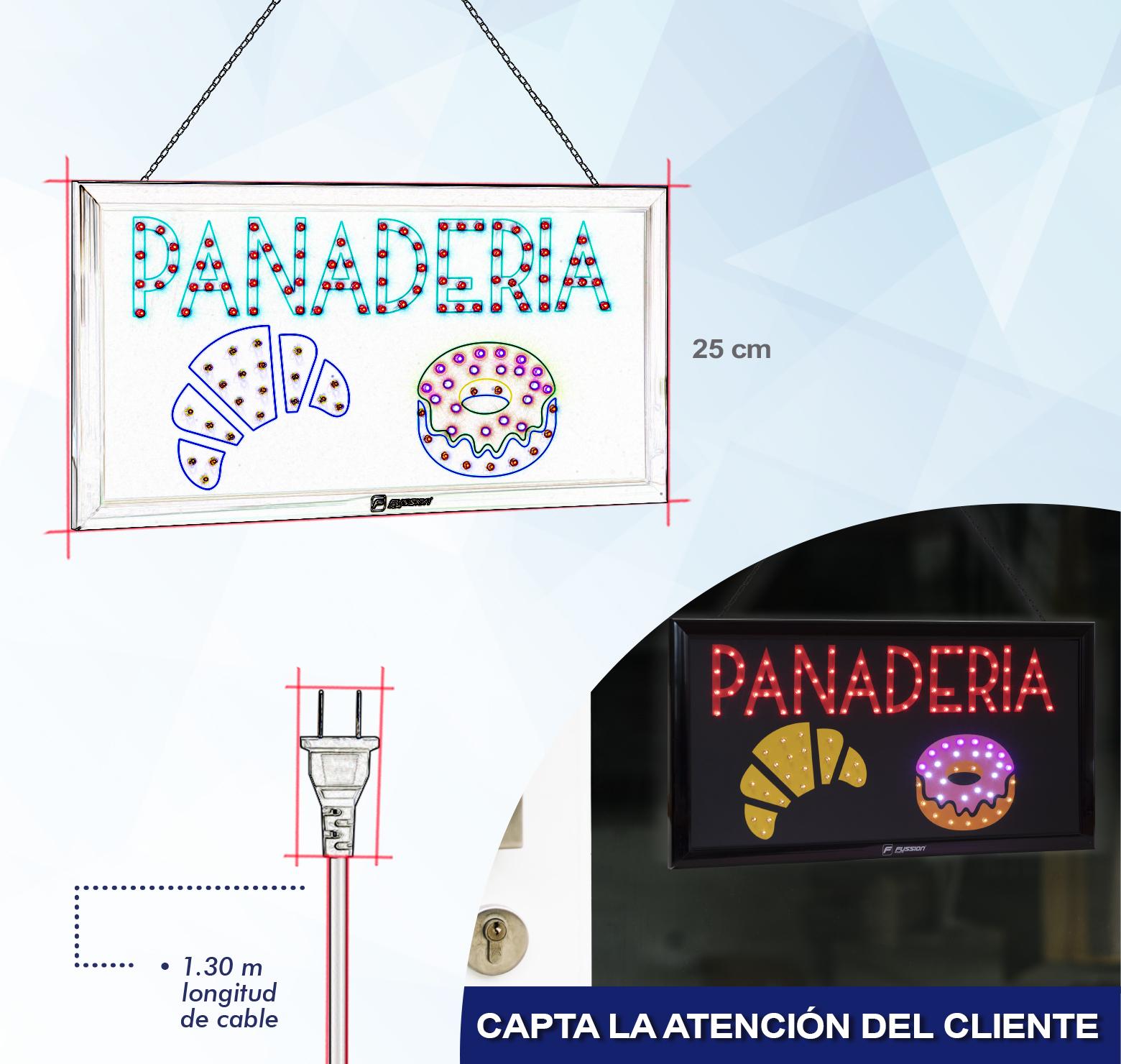 "Foto de ANUNCIO LUMINOSO LED ""PANADERIA"" 127 LEDS"