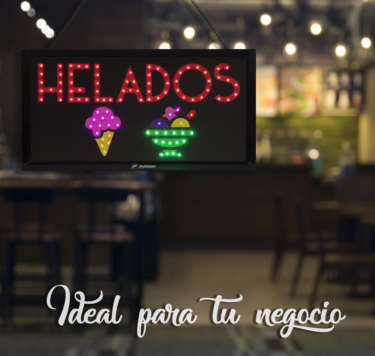 """Foto de ANUNCIO LUMINOSO LED """"HELADOS""""  100 LEDS"""