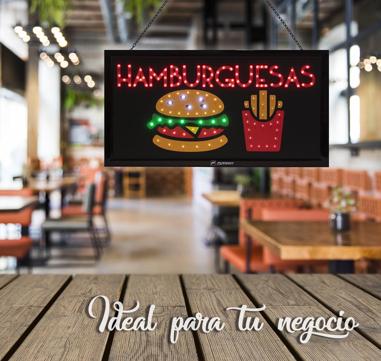 """Foto de ANUNCIO LUMINOSOS LED """"HAMBURGUESAS"""" 146 LEDS"""
