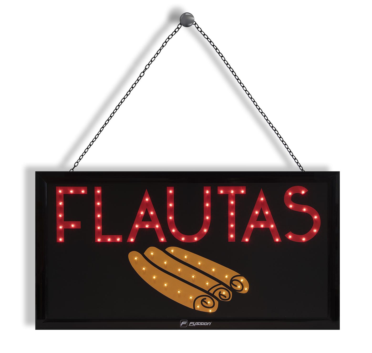 "Imagen de ANUNCIO LUMINOSO LED ""FLAUTAS"" 79 LEDS"