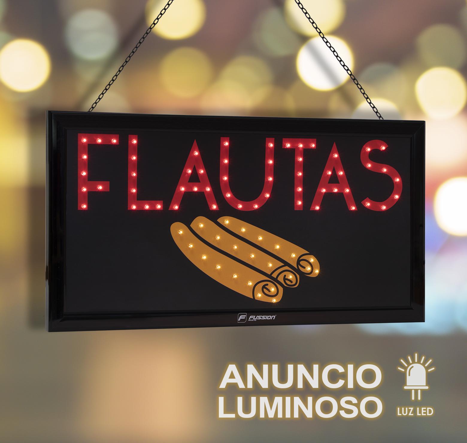"Foto de ANUNCIO LUMINOSO LED ""FLAUTAS"" 79 LEDS"